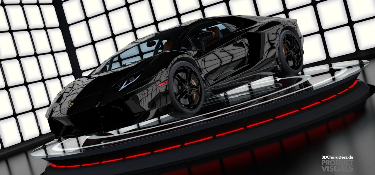 Lamborghini black - 3D Product visual
