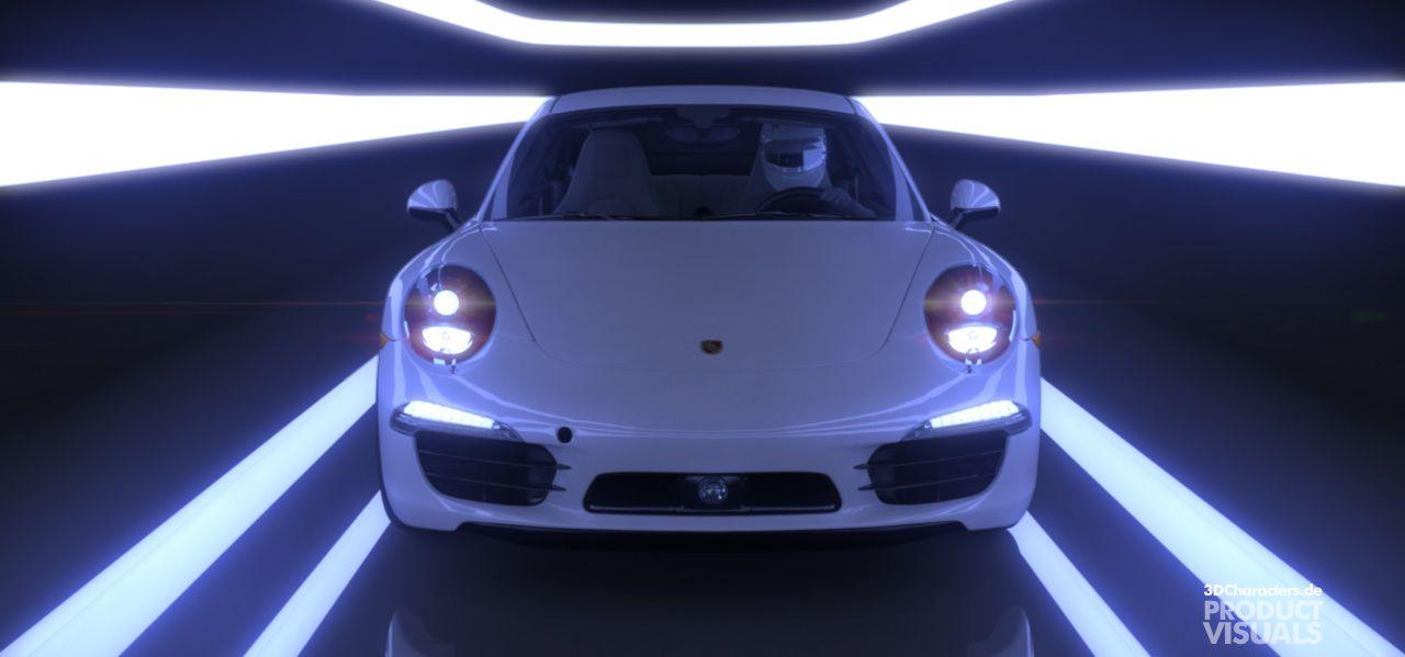 Porsche 911 blue- 3D Product Visual
