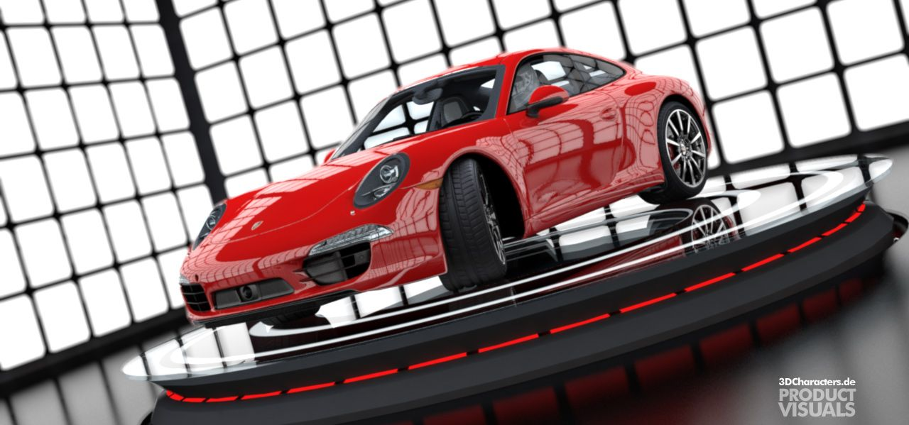 Porsche 911 red - 3D Product Visual
