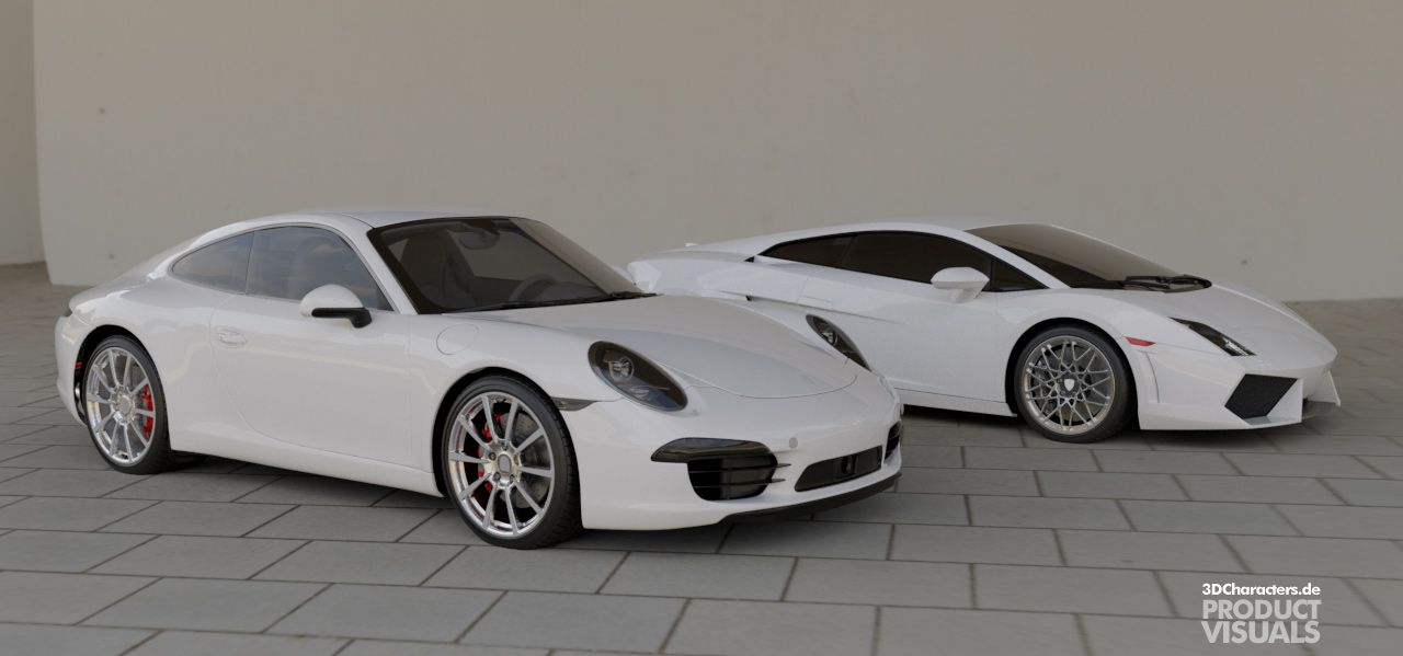 Porsche 911 | Lamborghini - 3D Product visual