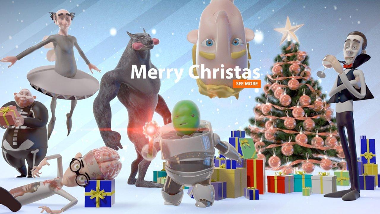 Merry Christmas Greetings | Character Animation