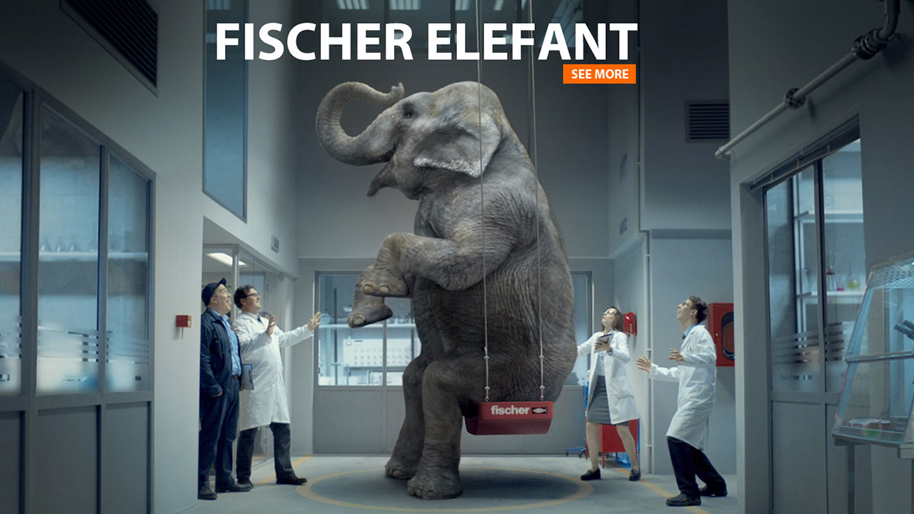 FISCHER | 3D Elefant Animation