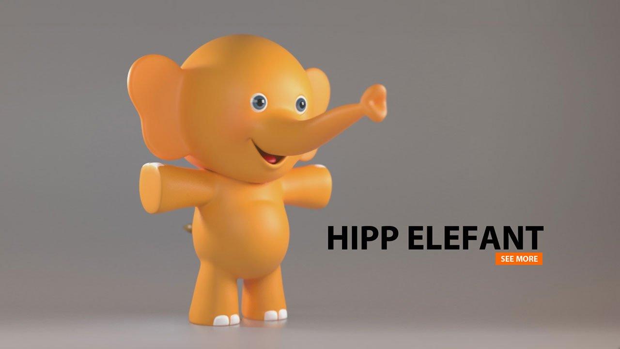 HIPP Elefant | 3d Modeling