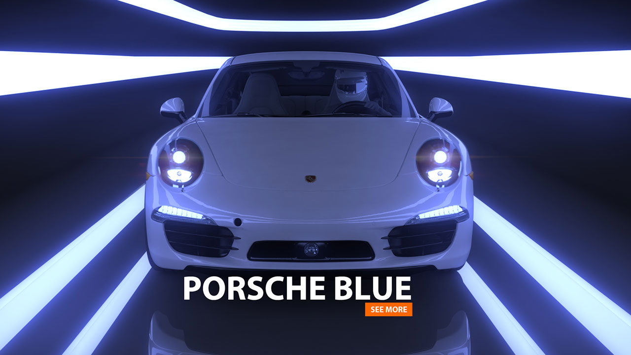 PORSCHE 911 Blue | 3d-Animation