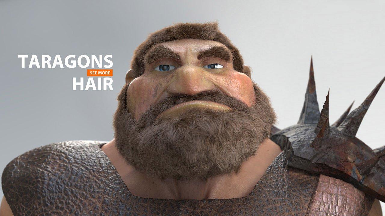 TARAGONS Hair | 3D Facial Animation