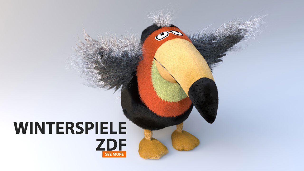 ZDF Winterspiele | 3D-Character-Animation